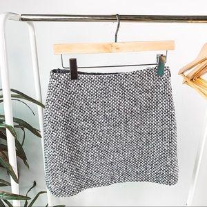 J. Crew Wool A-line Mini Skirt